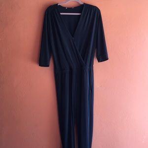 Veronica M Black Jumpsuit, Size Small